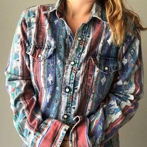 Wrangler Patriotic Denim Shirt size medium